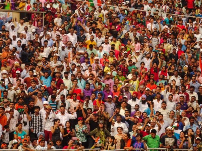 crowd cheering wagah