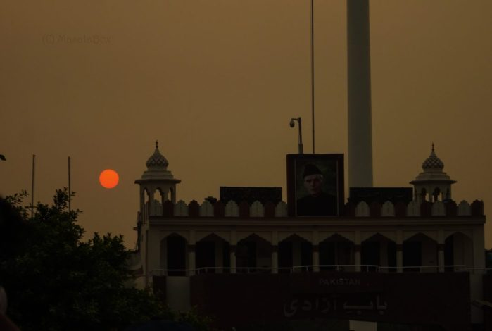 sunset wagah pakistan