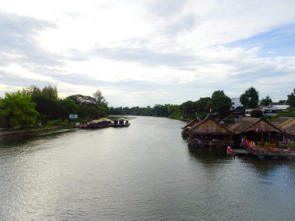 View from Bridge over the river Kwai