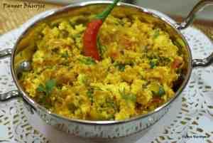 Paneer Bhurjee (Scrambled Cottage Cheese)