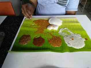 Idli with assorted chutneys & Sambar