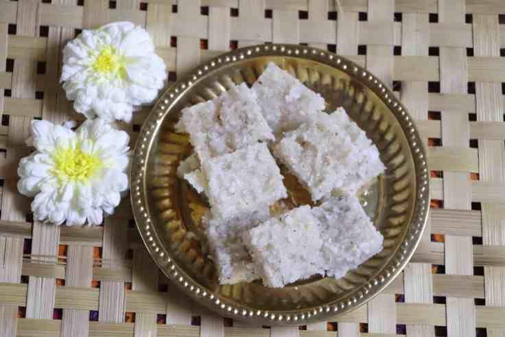 Nariyal Barfi Recipe, Thengai Burfi