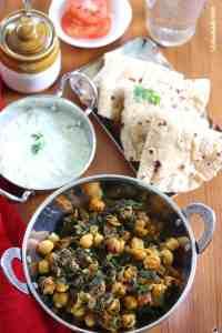 Chana aur Methi Ki Sabzi (Fenugreek and Chickpeas Dry Curry)