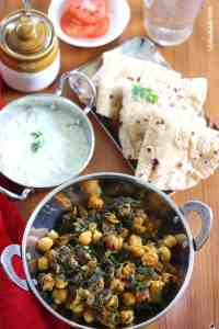 Chana aur Methi Ki Sabzi (Fenugreek and Chickpeas Dry Curry)