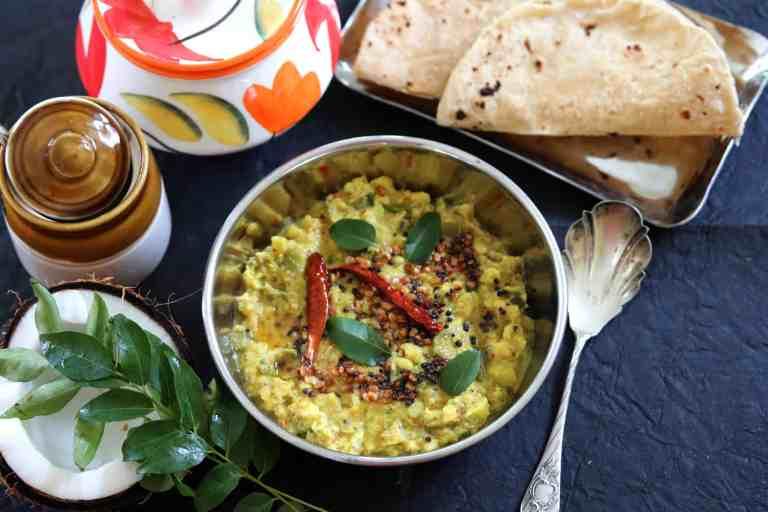 Avarakkai Kootu or South Indian Broad Beans Vegan Curry