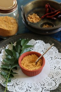 Kara Sundal Podi / Spicy South Indian Lentil Mix for Navratri Sundals