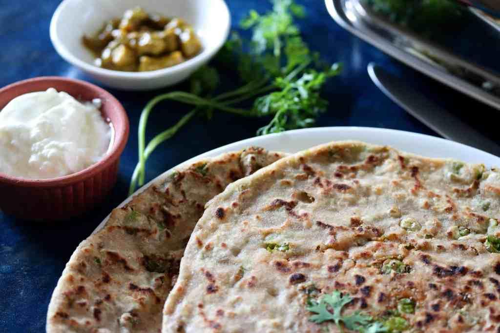 Aloo Peas Paratha Recipe