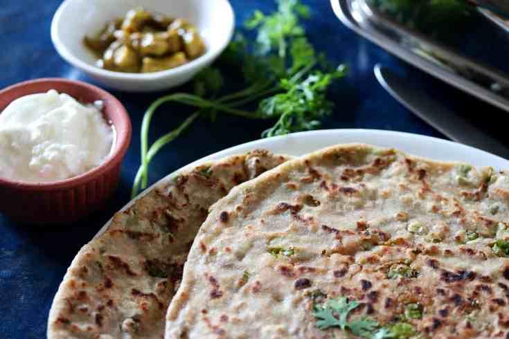 How to make aloo peas paratha