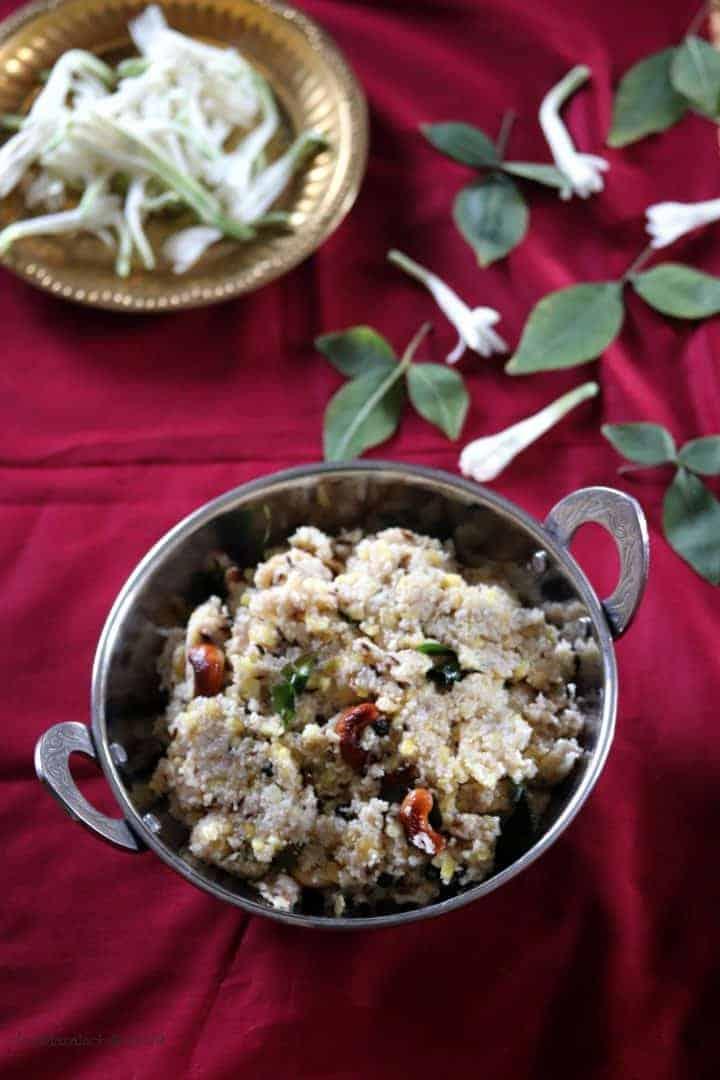 Samba Wheat Rava Pongal / Godhumai Rava Pongal