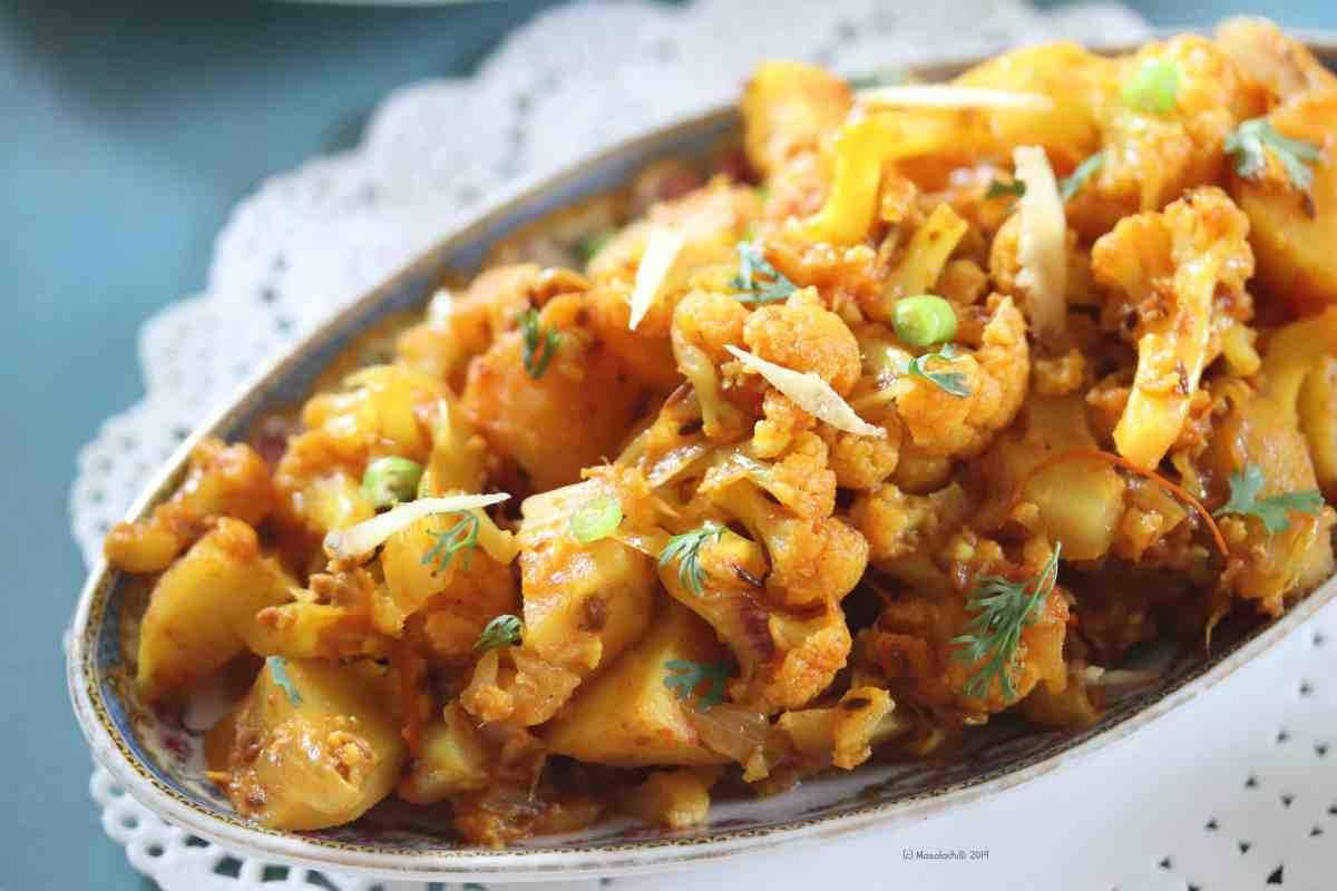 Aloo Gobi Adraki Recipe, Cauliflower Potato Sabzi