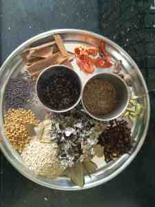 List of spices for goda masala