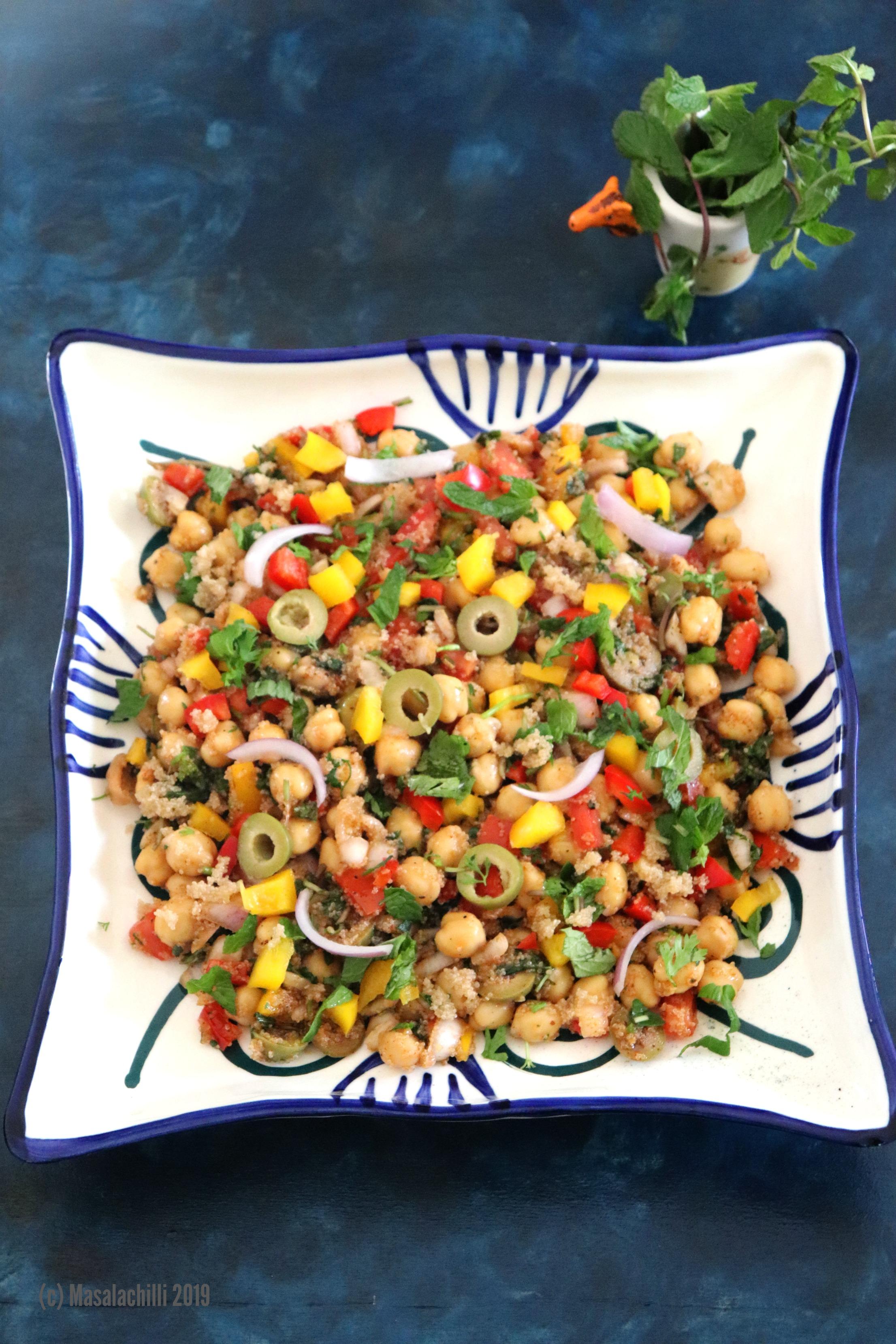 Mediterranean Chickpea Salad with Amaranth Couscous