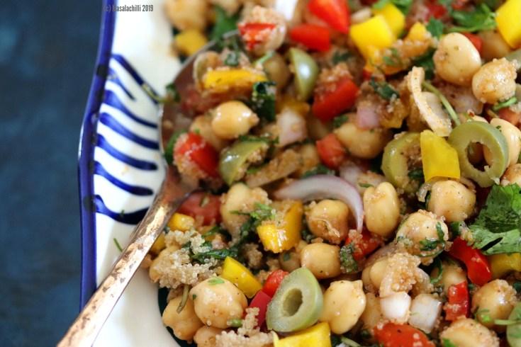 Gluten Free Vegan Dairy Free Mediterranean Chickpea Salad