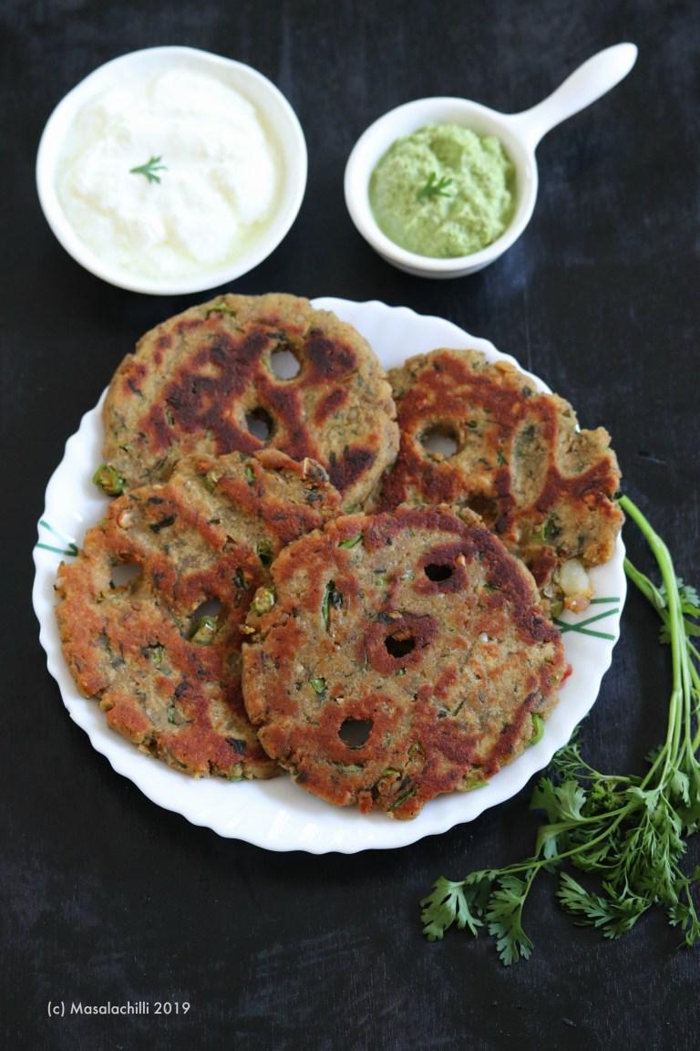 Rajgira Thalipeeth / Upvasache Thalipeeth Recipe/Amaranth Flatbread