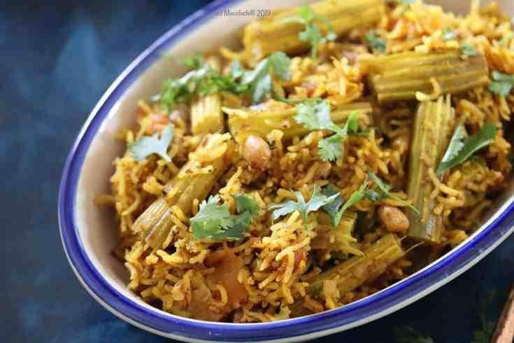 Easy One pot Masale Bhat or Masala Rice Recipe with Goda Masala