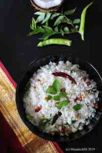South Indian Coconut Rice Recipe / Thengai Sadam