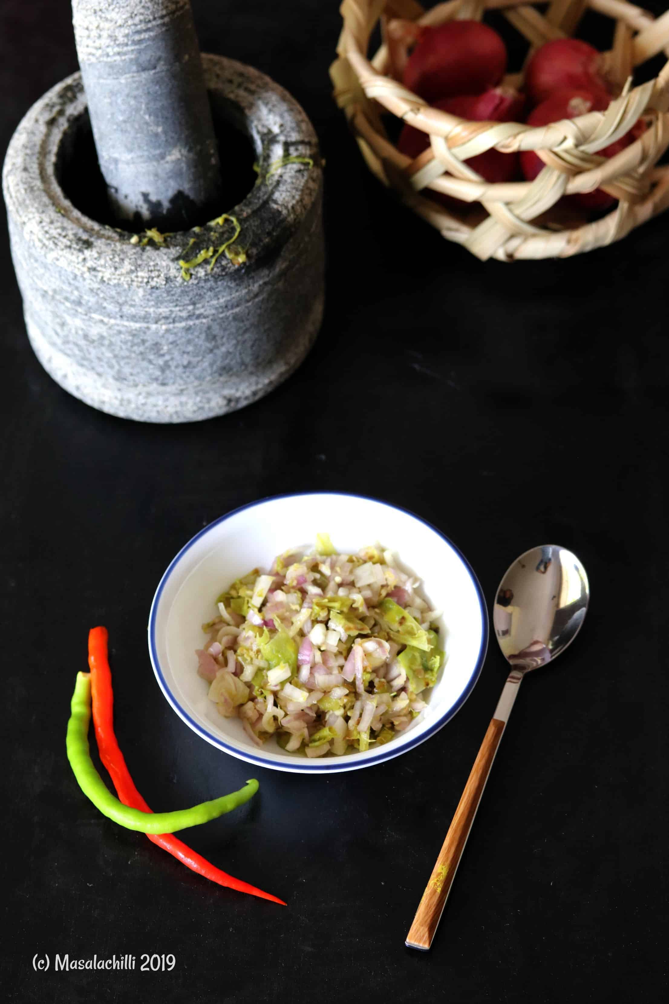 Hmarcha Rawt / Mizoram Roasted Green Chilli Chutney