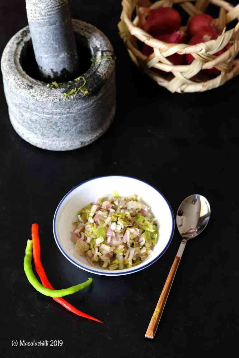 Hmarcha Rawt / Mizoram Roasted Green Chilli Chutney
