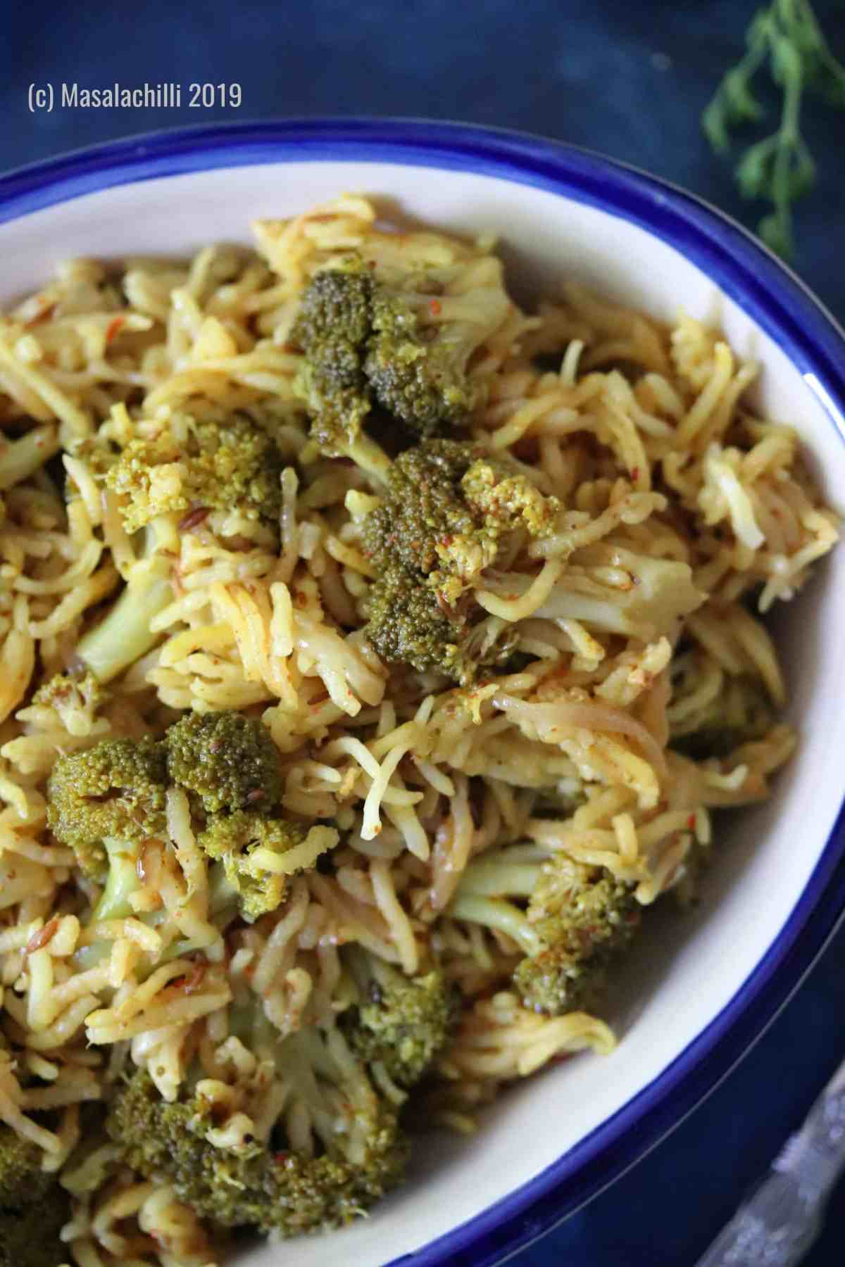 Vegetarian, low prep Broccoli Rice