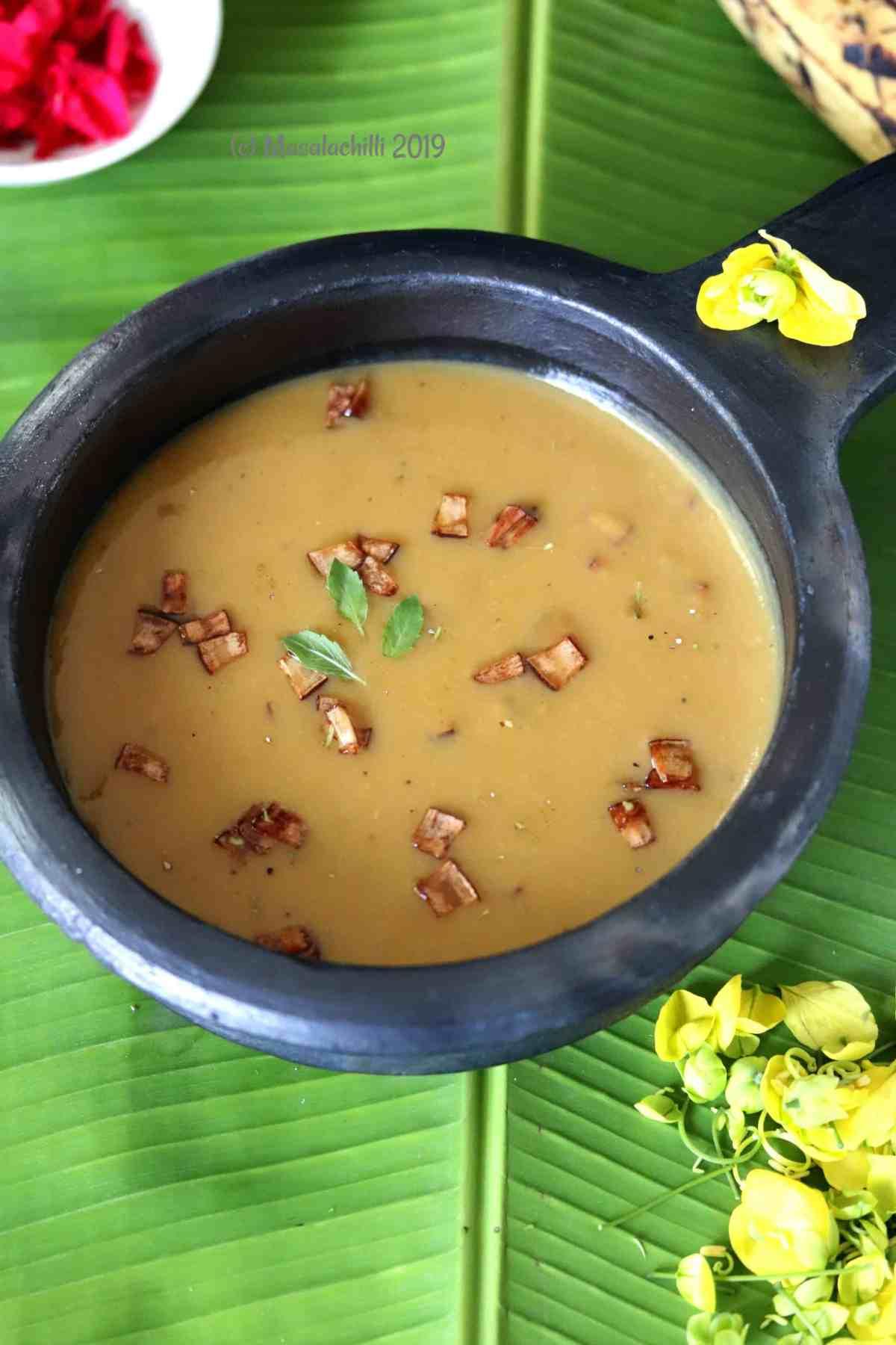 Kerala Nendram Pazham Payasam for Vishu and Onam Sadya
