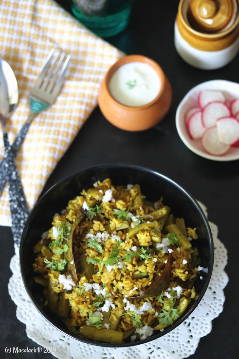 Maharashtrian Tondli Bhaat Recipe (No Onion, No Garlic Recipe)