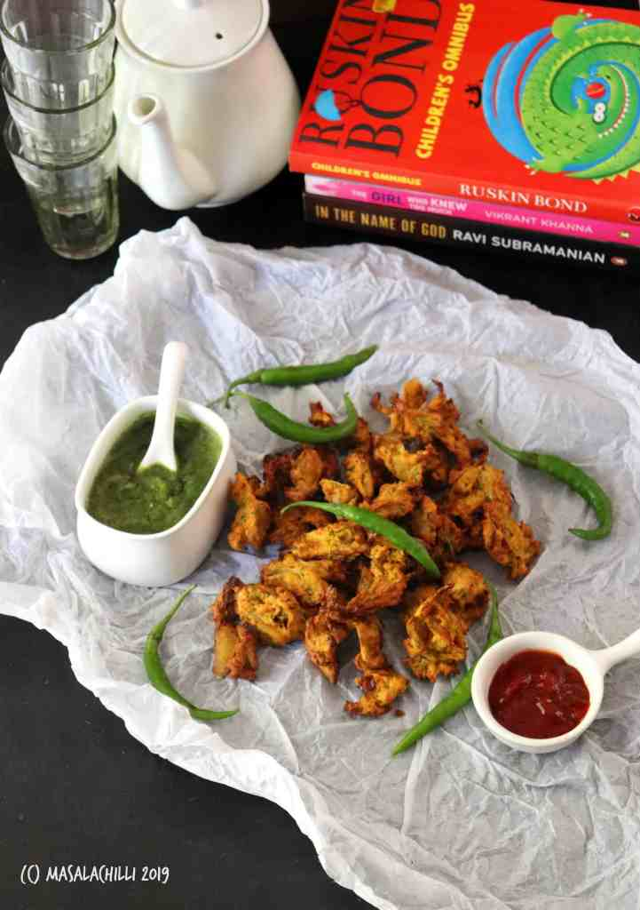 Air Fryer Onion Pakoda (No Fry Tea Time Snack)