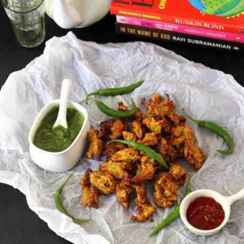Crispy Onion Pakoda in Air Fryer