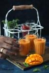 Mango Milkshake with Goji Berry