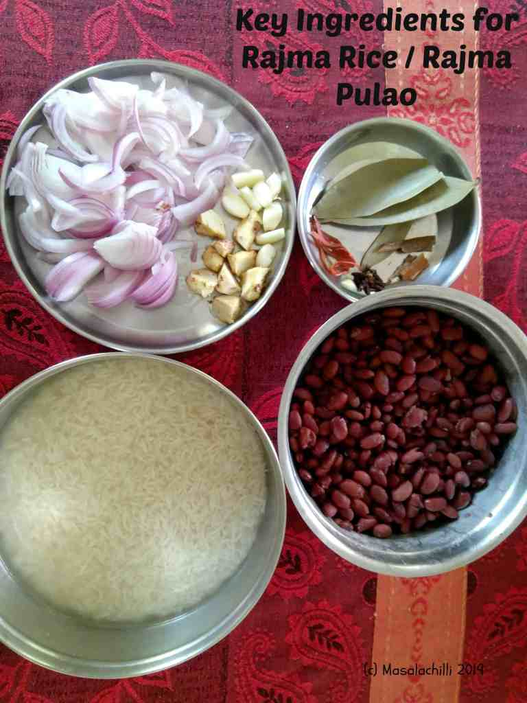 Ingredients to cook Rajma Rice