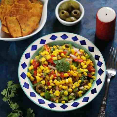 Corn Salad - Best 4pm snack option
