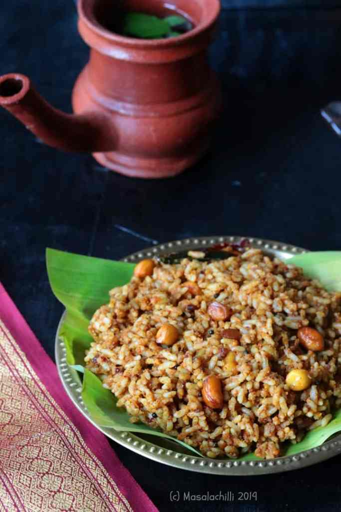 Spicy Tangy Delicious South Indian Temple Style Tamarind Rice