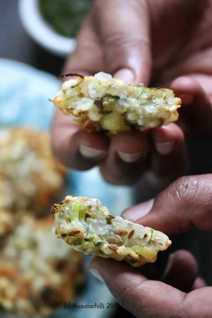 Air Fried Sabudana Vada are crispy on the outside and soft inside