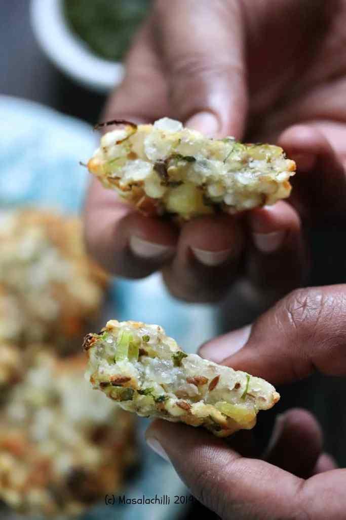 Air Fried Sabudana Vada are crispy on the outside and soft inside