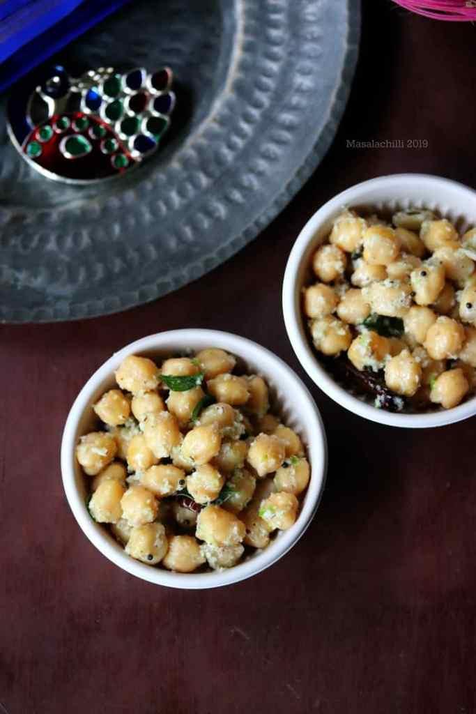 Chickpeas Sundal for Navratri