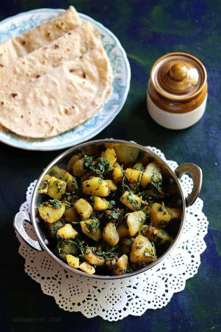 Aloo Methi Sabzi (No Onion No Garlic Recipe)