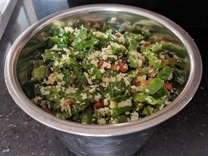 Ingredients for Peerkangai Thol Chutney