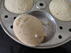 Proso Millet Idli is ready to eat