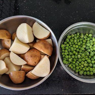 Potatoes and Peas for Hara Bhara Kabab