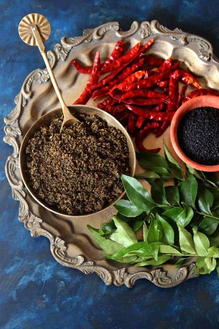 Ellu Podi or Spiced Sesame and Lentils Dry Chutney Powder