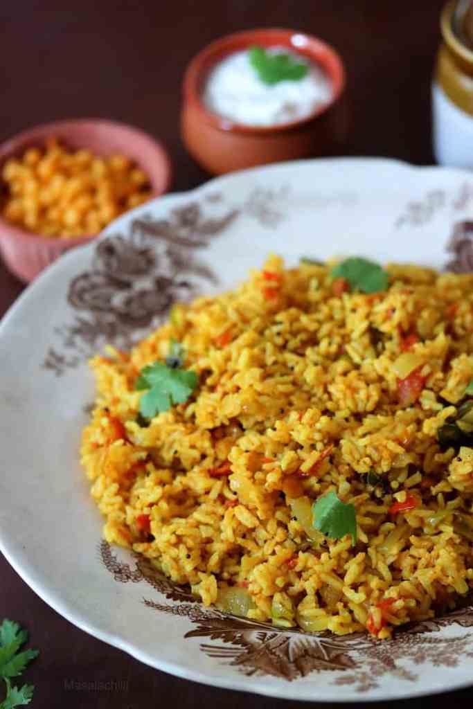 Thakkali Sadam or South Indian Tomato Rice
