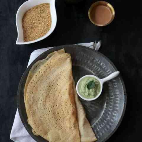 Thinai Dosa or Foxtail Millet Dosa Recipe