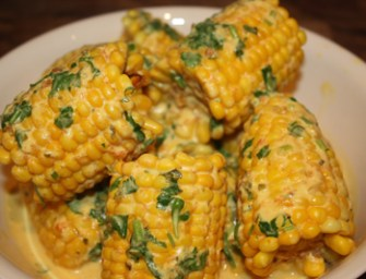 Makai Paka, East African Corn in Coconut Curry