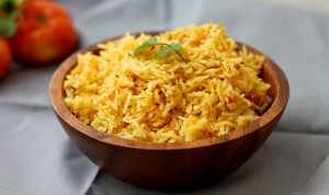 indian spiced tomato rice, masalamommas, indian recipes
