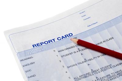 report card; school; classroom