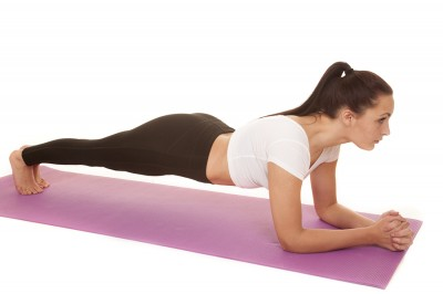 Fitness White Top Low Plank