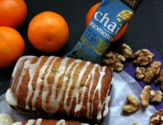 Walnut Citrus Pound Cake with Creamy Chai Glaze