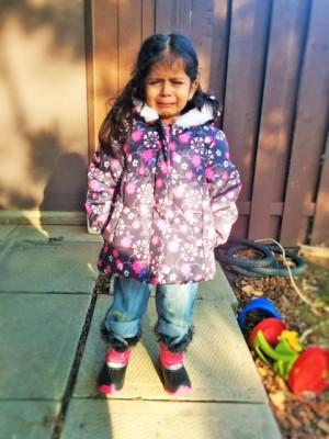 Aaliyah in Winter Gear