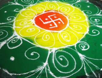 DIY: Rangoli in 15 Minutes