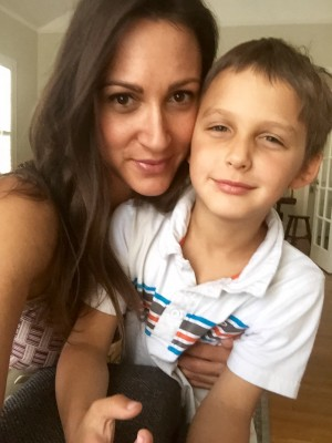 Sitara Hewitt and Her Son