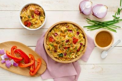 Grilled Tofu Pasta Salad with Madras Paste-033